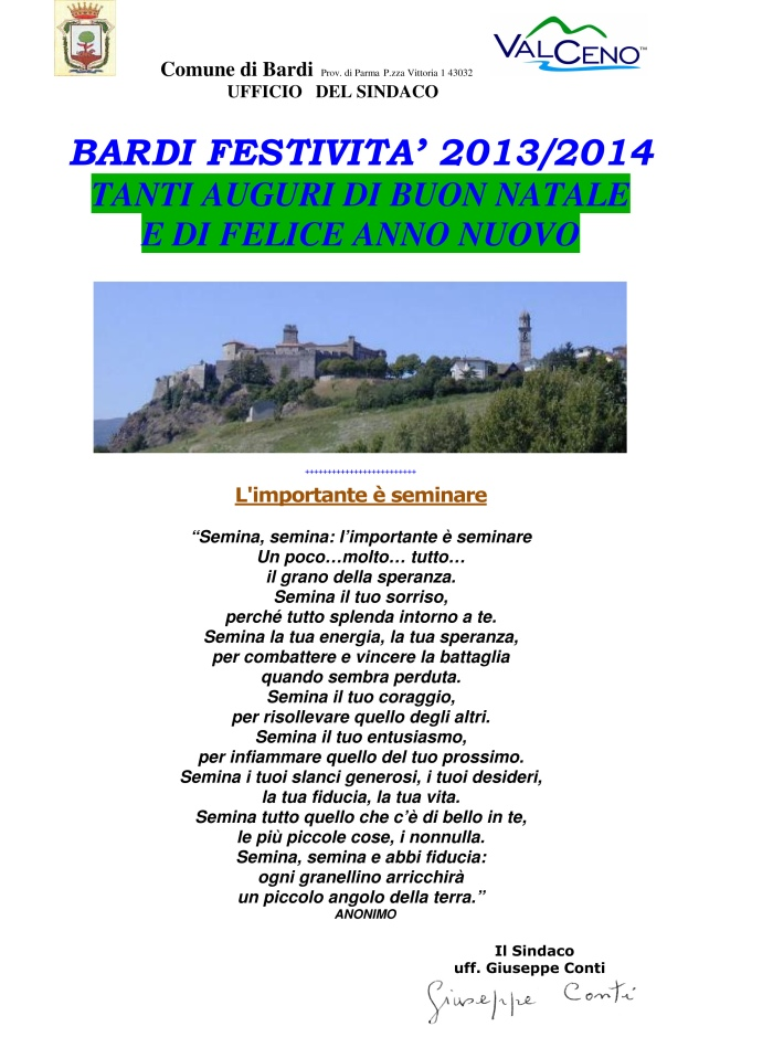 Microsoft Word - Auguri sindaco 2013 2014.doc